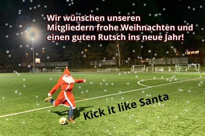 Santa Weihnachten Kick it like Santa Rutsch